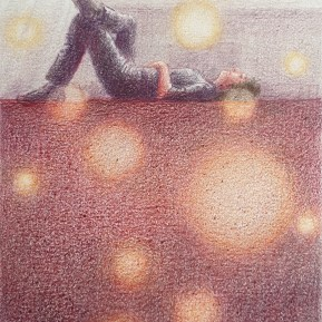 Luisteren, kleurpotlood op papier, 12x10 cm, 2020