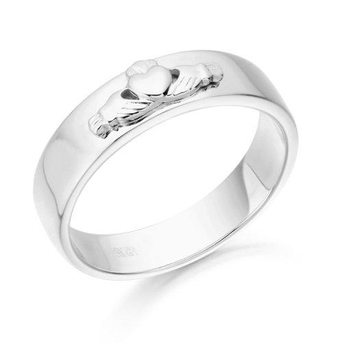White Gold Claddagh Wedding Ring