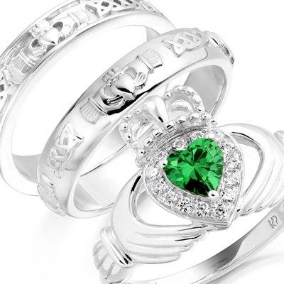 Silver Claddagh Rings