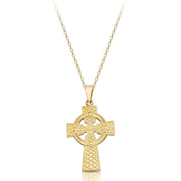 9ct Gold Celtic Cross - C05CL