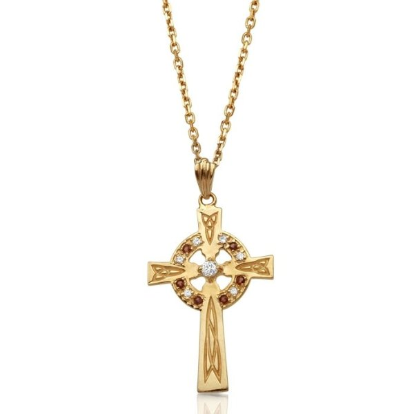 9ct Gold Celtic Cross - C111GARCL