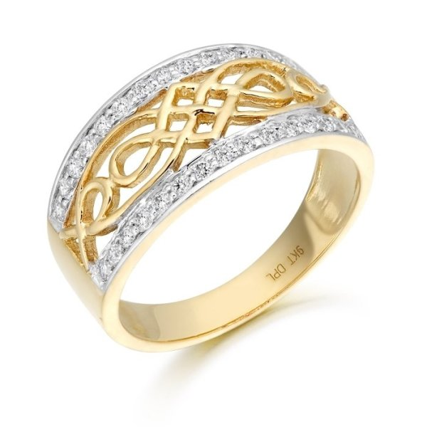 9ct Gold Celtic Ring-3238CL
