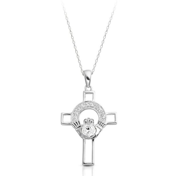 9ct Gold Claddagh Cross-C125WCL