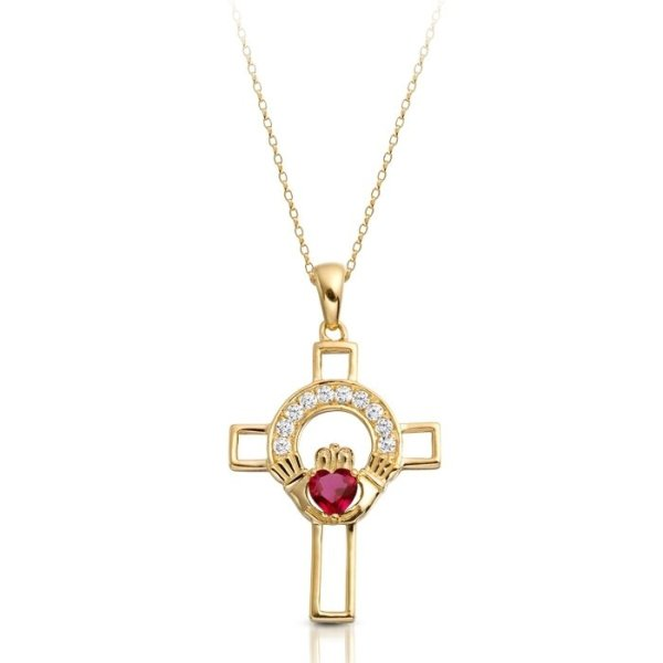 9ct Gold Claddagh Cross-C125RCL