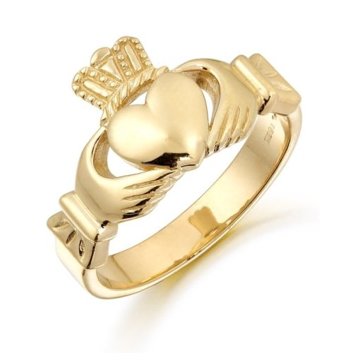 9ct Gold Claddagh Ring - 136A