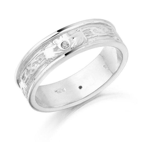 Claddagh Wedding Ring-CL23WCL