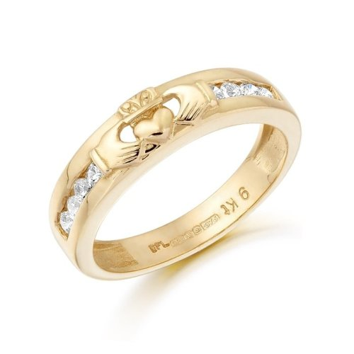 9ct Gold Claddagh Wedding Ring - CL27CL