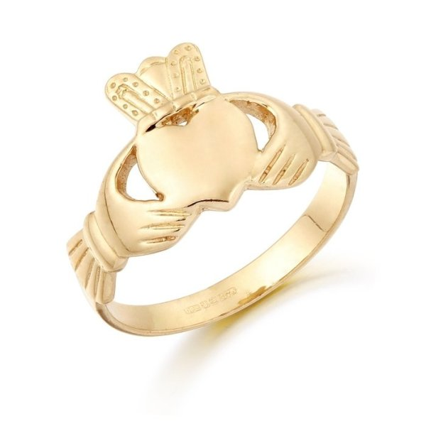 Gold Claddagh Ring-CL18CL