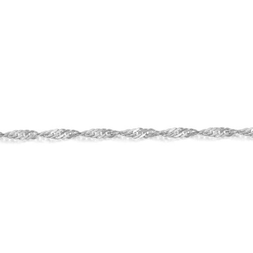 9ct White Gold Twisted Curb Chain - DISCO25WCL
