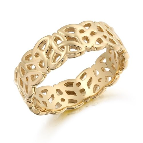9ct Gold Trinity Knot Celtic Wedding Ring - 1522CL