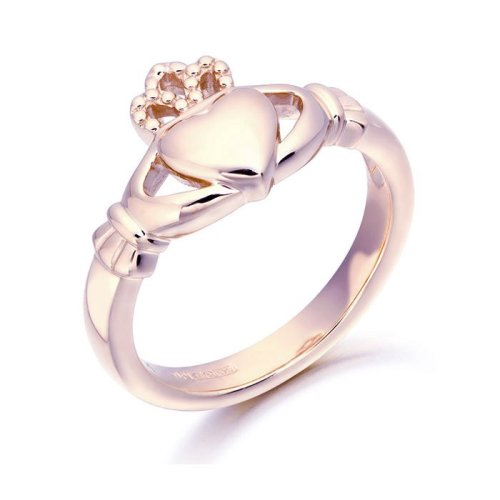 Rose Gold Claddagh Ring