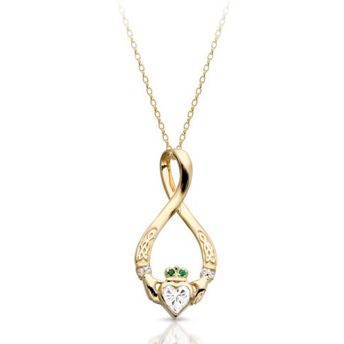 Claddagh Pendat with Celtic Knot design