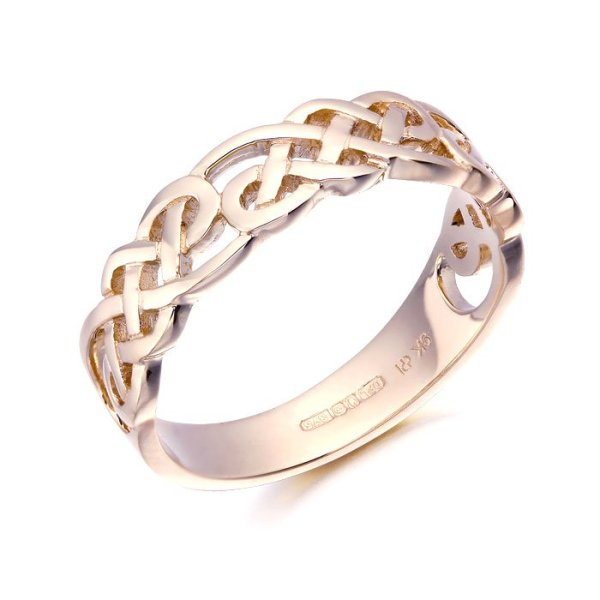Rose Gold Celtic Ring-3242RCL
