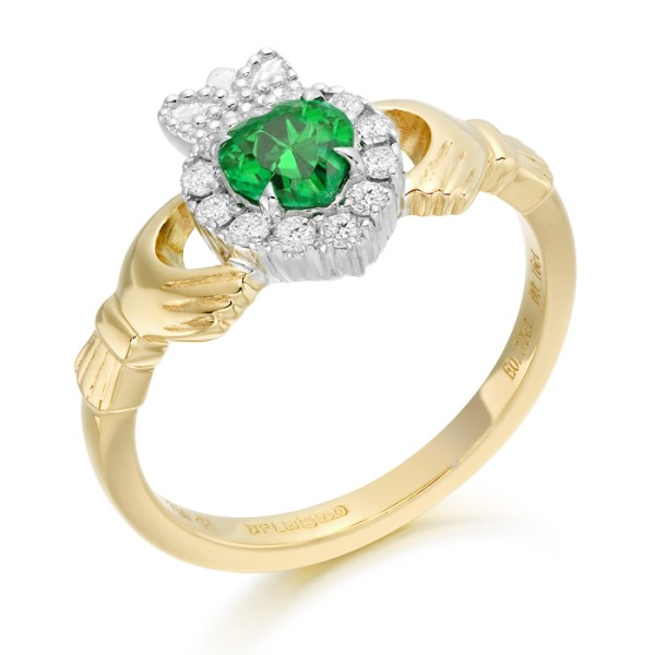 Diamond Claddagh Ring-CLDIA5CL