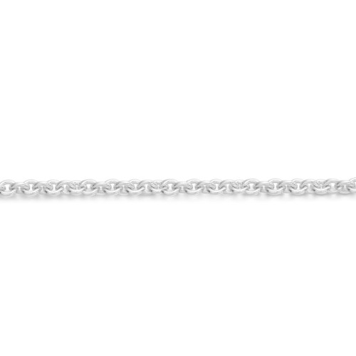 9ct White Gold Belcher Chain-Rolo40WCL