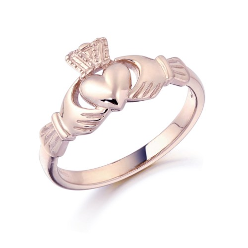 9ct Rose Gold Claddagh Ring - CL8RCL