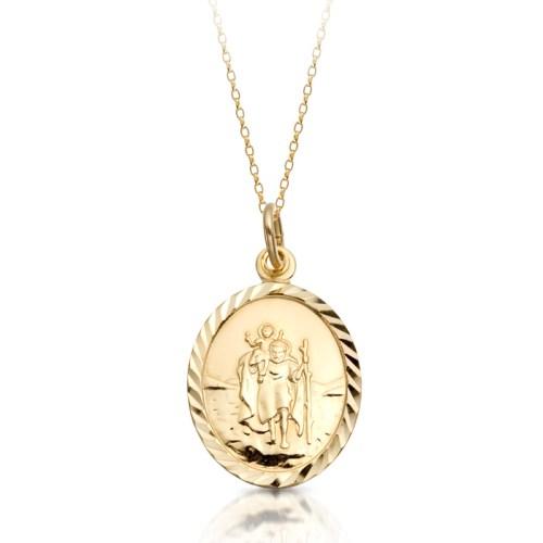9ct Gold Saint Christopher Medal - ST2CL