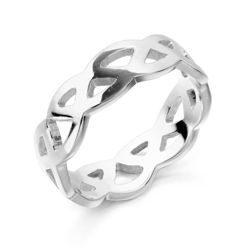 Silver Celtic Wedding Ring-S1518CL
