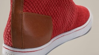 chaussure rouge 2Side contrefort