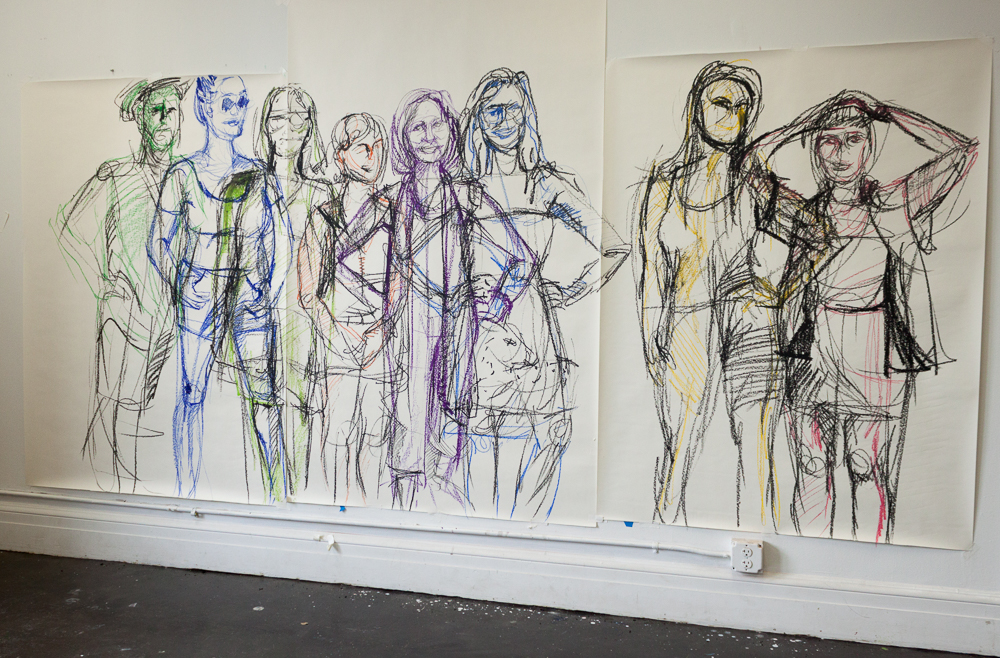 Finished Life-Size-Life-Drawing