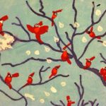 Winter Cardinals in Snow Art Lesson