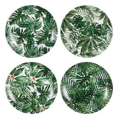Assiettes tropicales en porcelaine - Lionshome - made in design