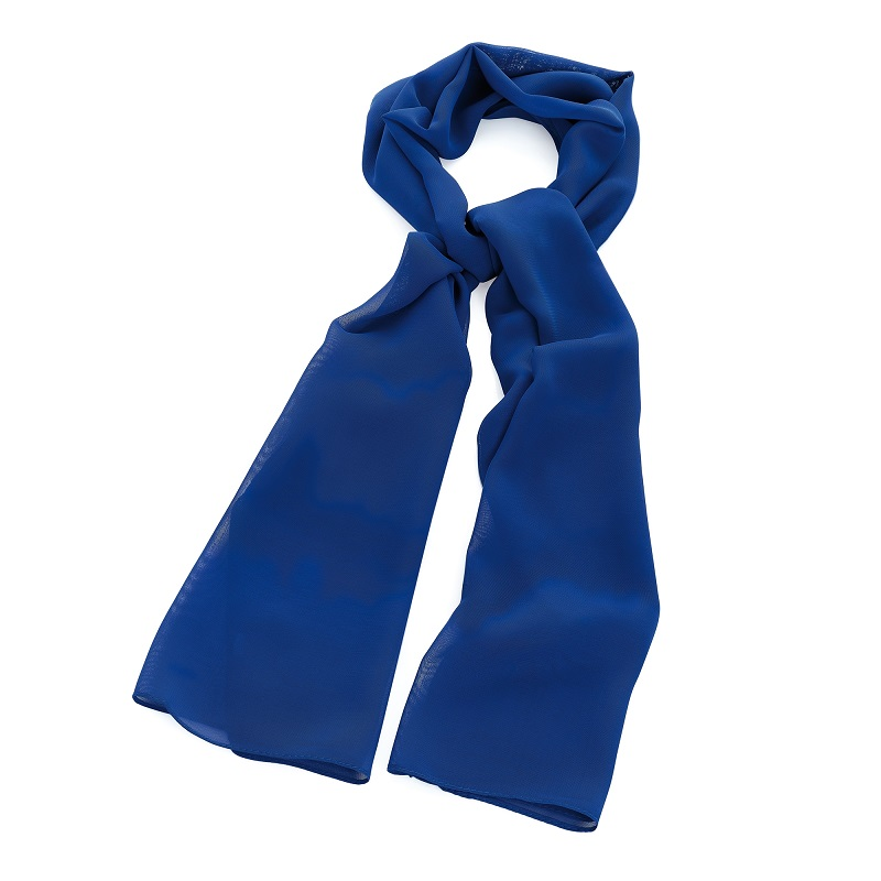 Royal Blue Colour Chiffon Style Scarf