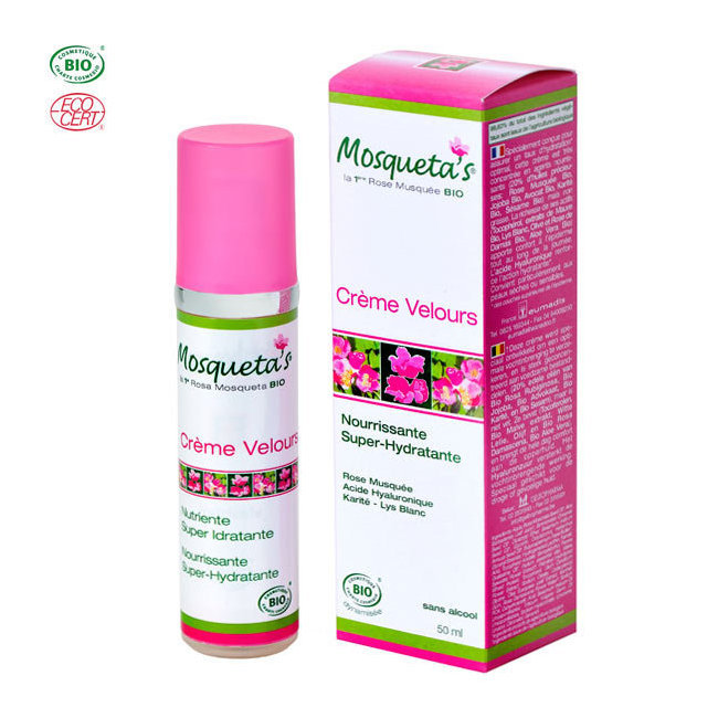 Crème Velours bio Super hydratante à la rose musquée 50ml