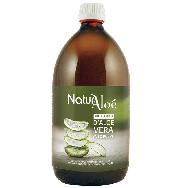 Pulpe d'Aloe vera bio - Pur jus frais 500ml