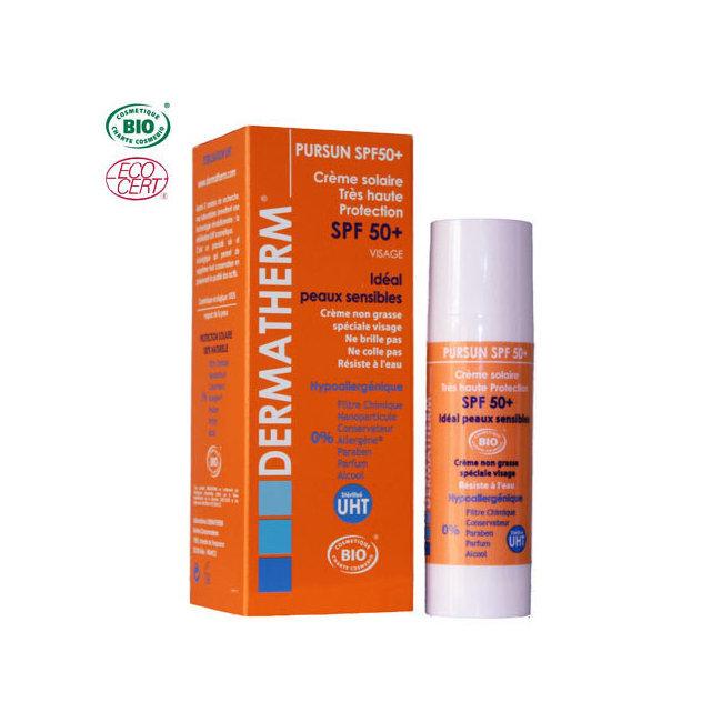 PurSun Crème solaire bio SPF 50+ Visage 50ml