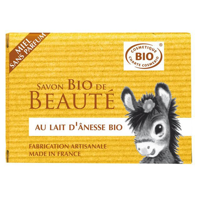 Savon au lait d'anesse bio au miel sans parfum 100g