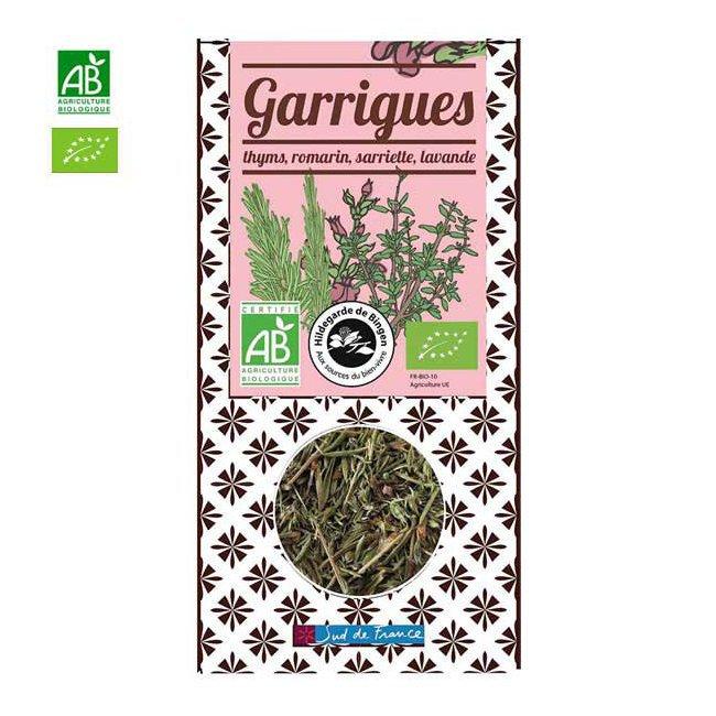 Mélange herbes bio des garrigues - Boîte de 25g