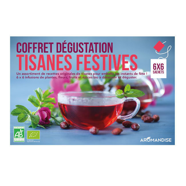 Coffret dégustation Tisanes festives bio 36 sachets