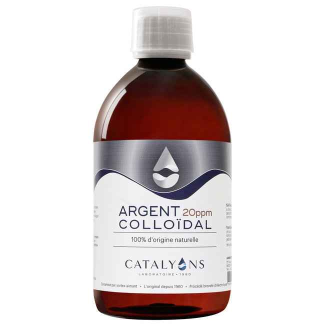 Argent Colloïdal 20 ppm - Antibactérien - Flacon 500 ml