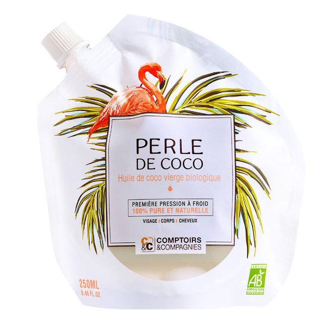 Perle de coco - Huile de coco vierge bio - Visage, Cheveux, Corps 250ml