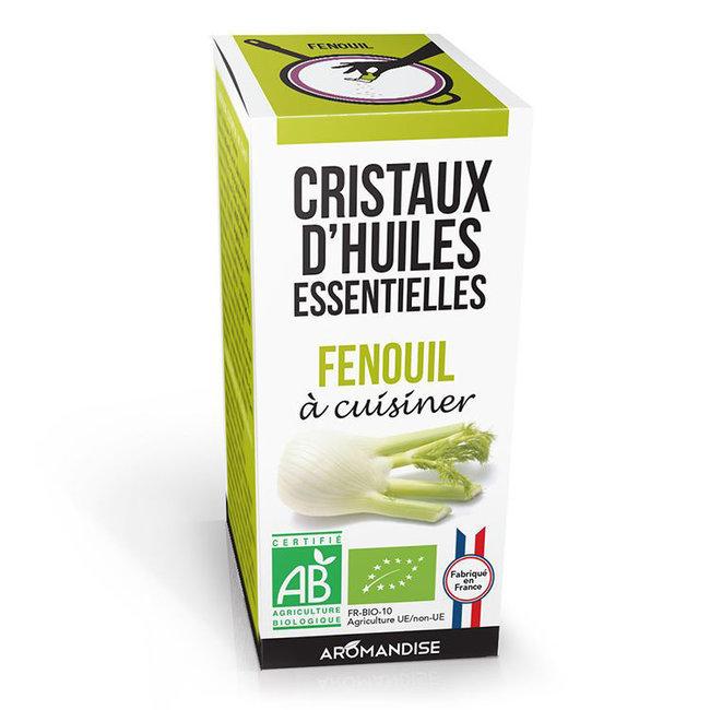 Cristaux d'huiles essentielles Fenouil bio 20g