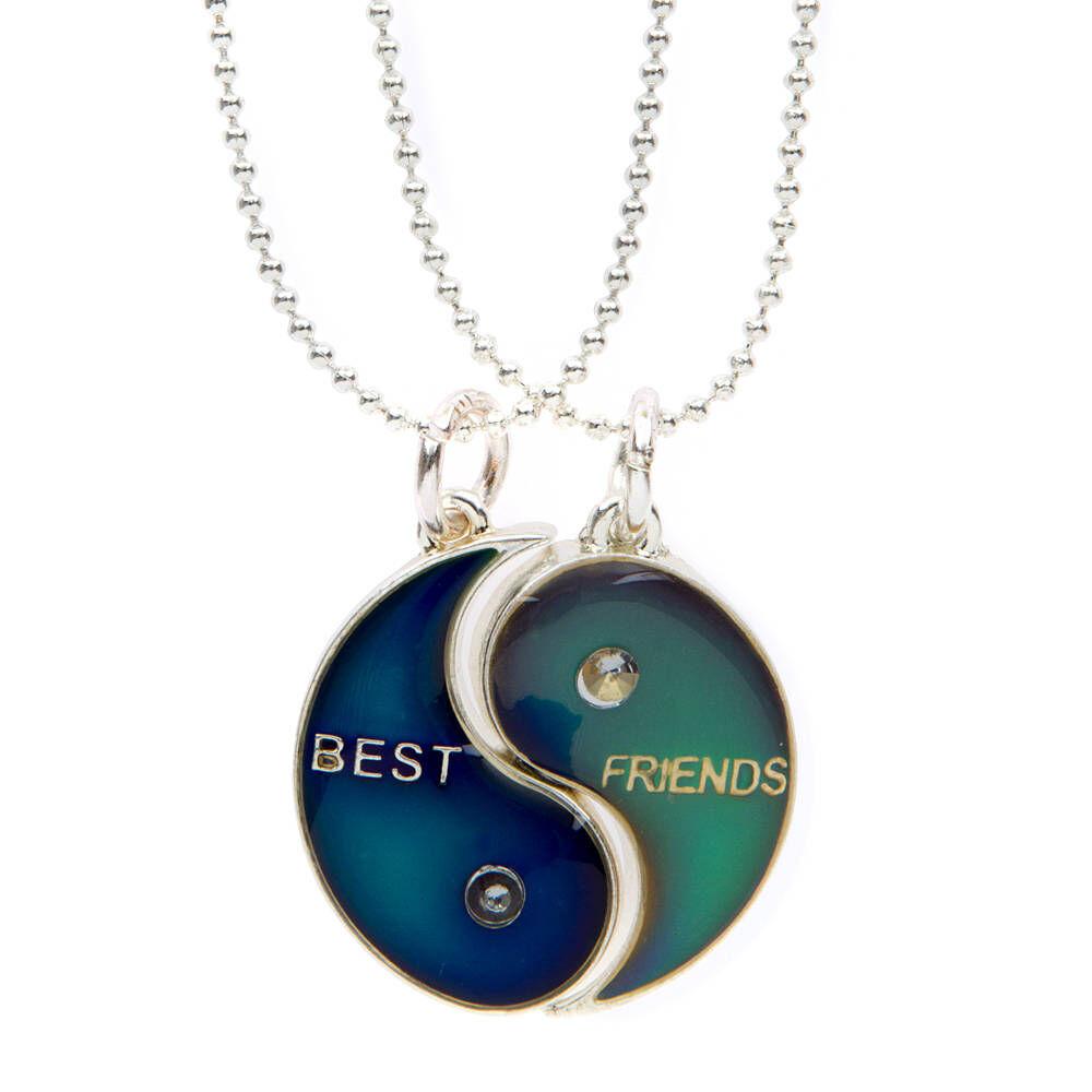 Best Friends Yin Yang Mood Pendant Necklace Claires US