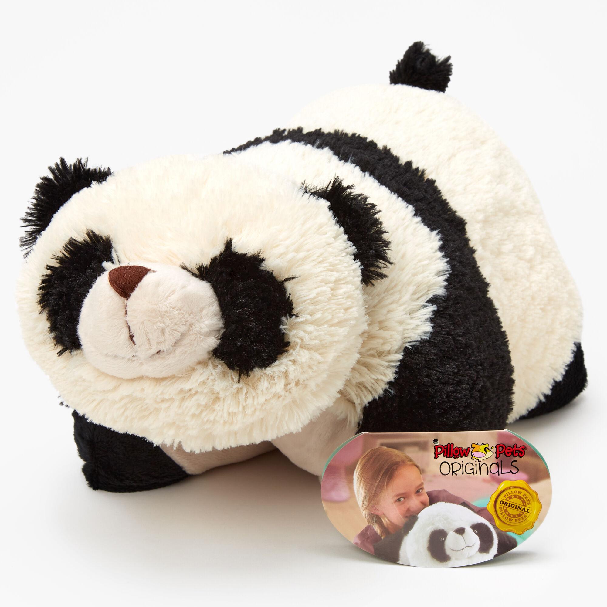 pillow pets originals black and white panda plush toy