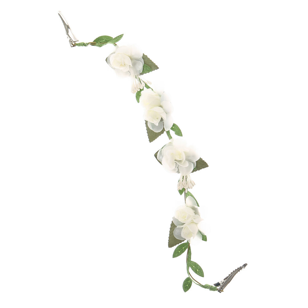 Ivory Flowers On A Vine Decorative Hair Swag Claires