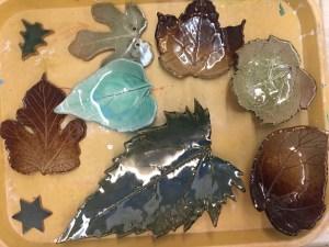 Clay Leaf Bowls Art Adventures Parent/Child workshop