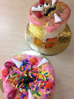 Just Desserts! Wayne Thiebaud inspired Food Art cupcake Sculpture from our Art Adventures class