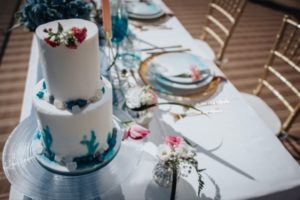 Algarve elopement cake