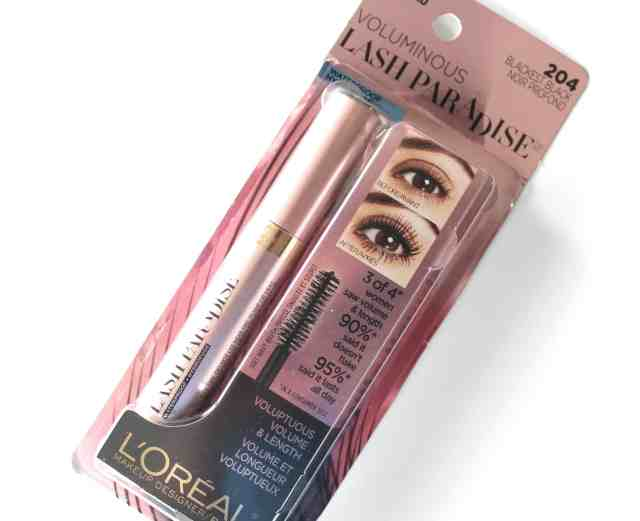 loreal voluminous lash paradise waterproof mascara packaging
