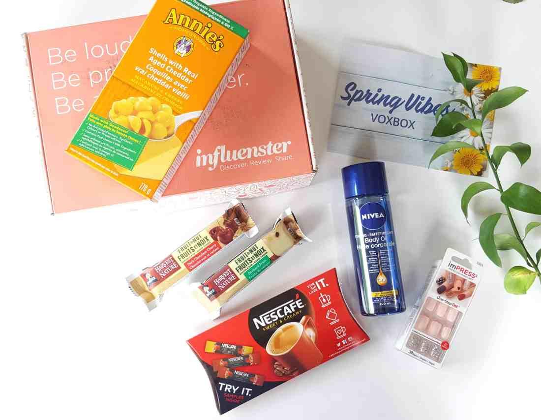 Influenster Spring vibes voxbox