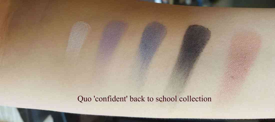 Quo My Makeup Notebook palettes confident back to school collection 2017 swatches