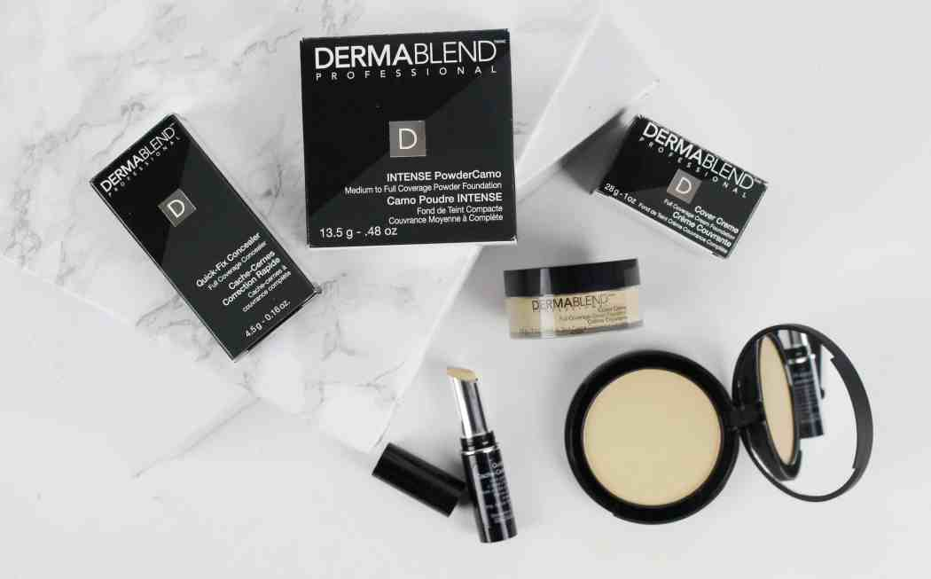 dermablend intense powder camo quick cover concealer and cover creme foundation