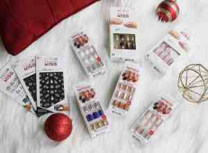 holiday nails impress and kiss stickers and press on nails