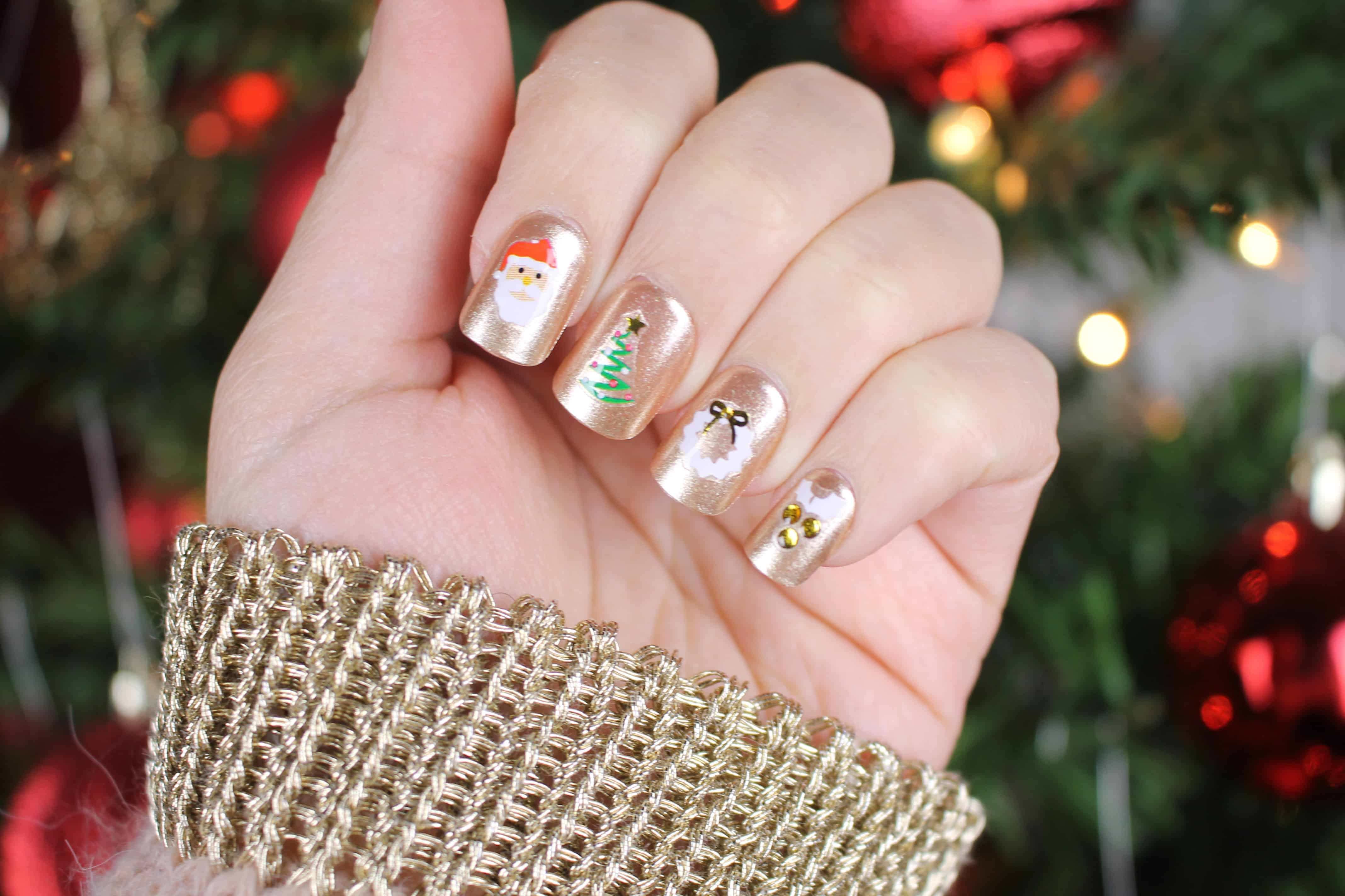 press on nails symphony and kiss accent stickers in glad tidings for ...