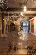 """Untitled - four panels"" an installation at ""Liverpool International Artists"", Novas CUC, Liverpool, September 2008"