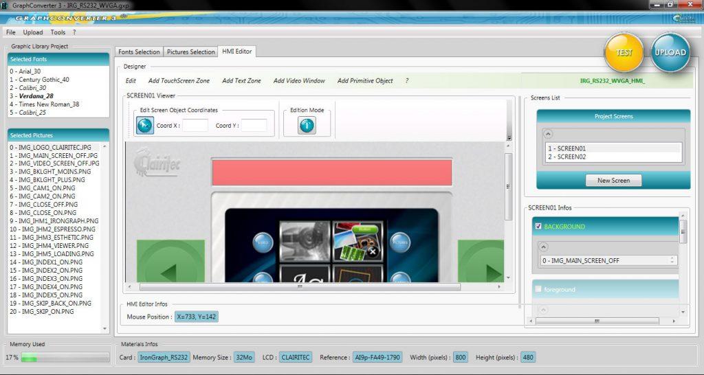 HMI software program - Clairitec all-in-one HMI solution